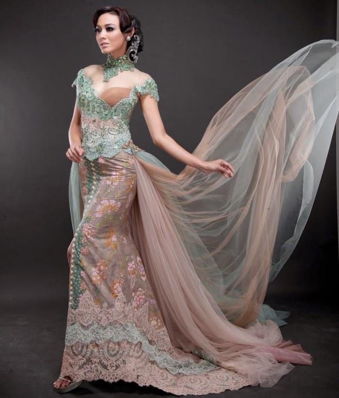 Model Pakaian Kebaya Pengantin Modern dengan Warna Cerah