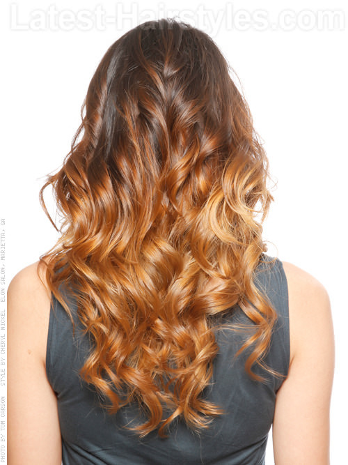 Model Rambut Ombre Soft Caramel dengan Warna Coklat
