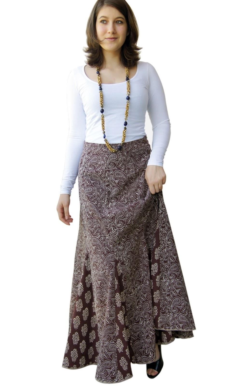 Model Rok Batik Panjang 1