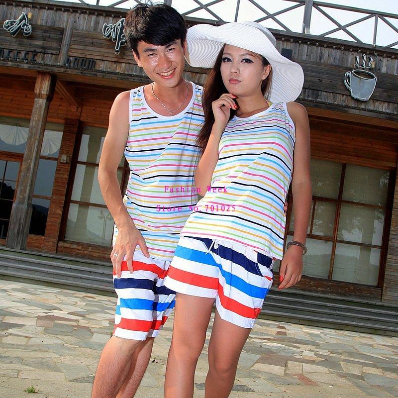 Baju Pantai Wanita dengan Pasangan