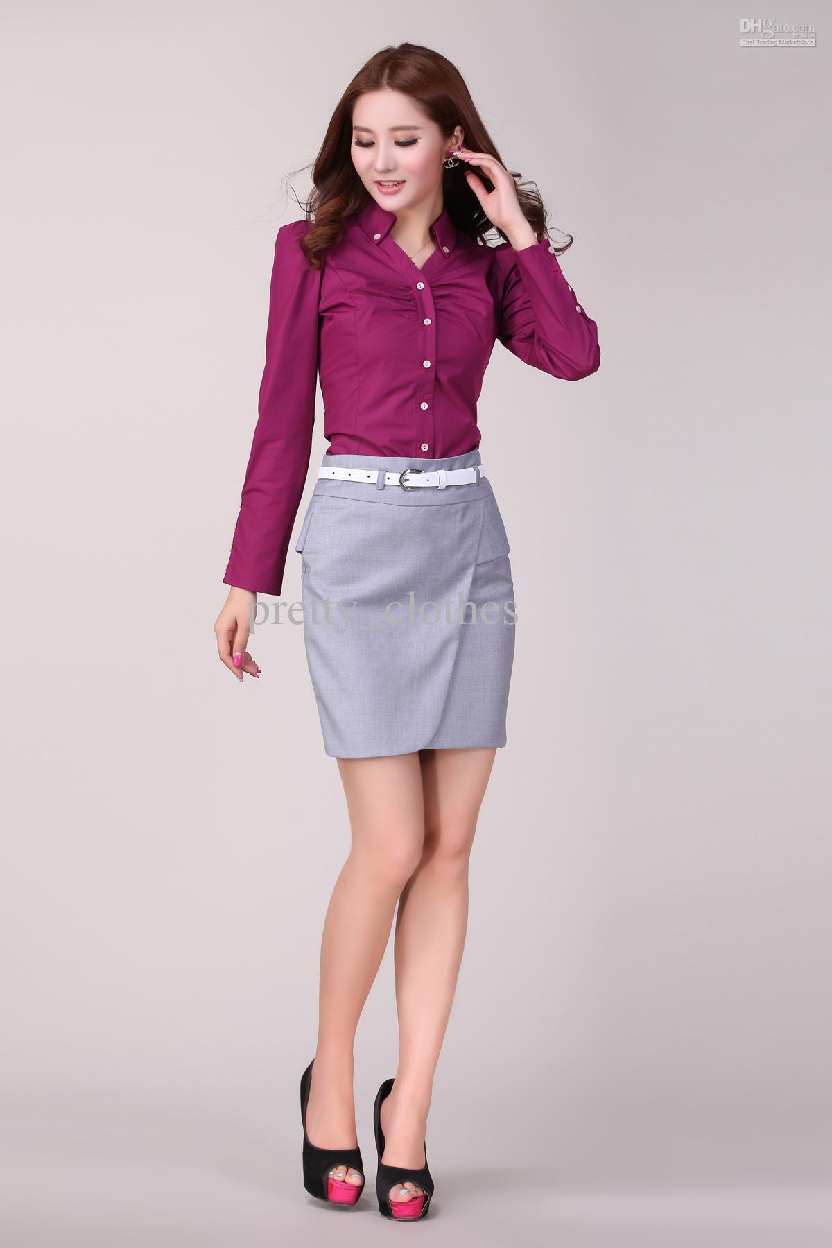 Kemeja Lengan Panjang dan Rok Span untuk Baju Kerja Wanita