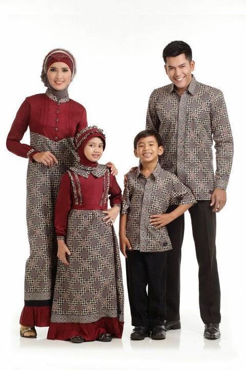 Model Baju Pesta Anak Perempuan Couple dengan Gaya Batik Muslim
