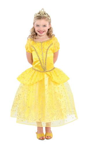 Model Baju Pesta Anak Perempuan dengan Dress Kuning