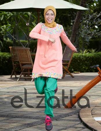 Model Baju Senam Muslim untuk Berlari