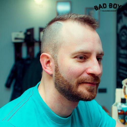 Model Rambut Pendek Pria dengan Brewok