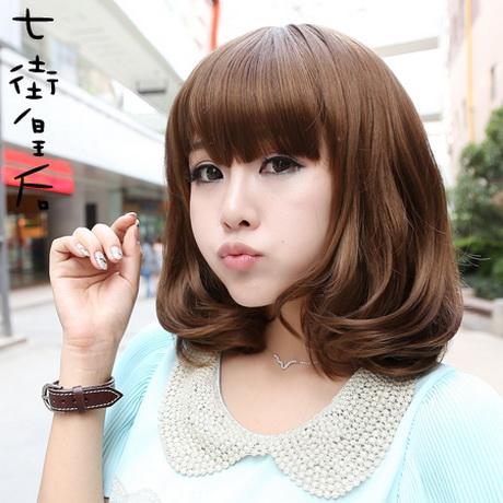 Model Rambut Pendek Wanita Korea Bergelombang