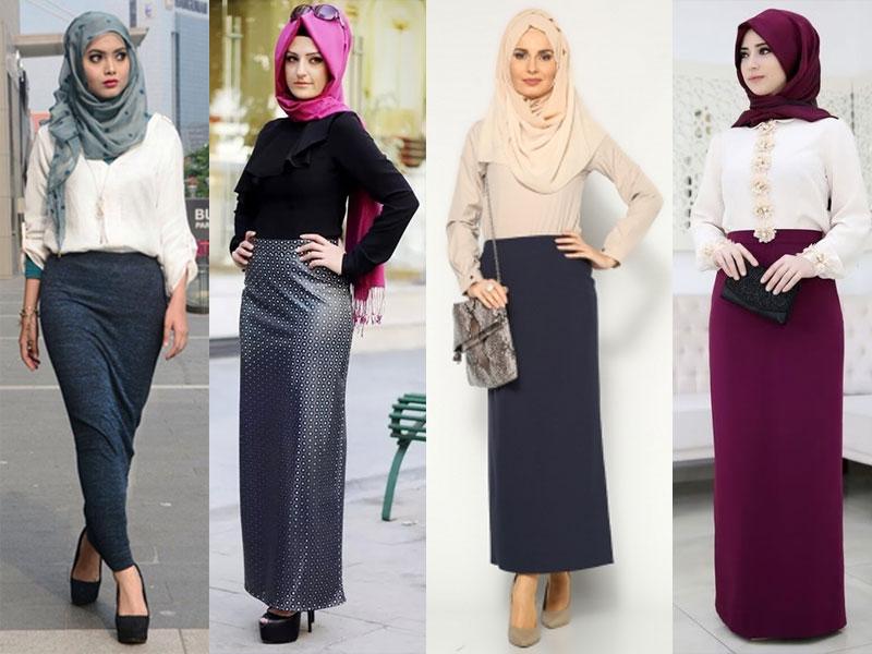 Model Rok Span Panjang Muslimah Terbaru