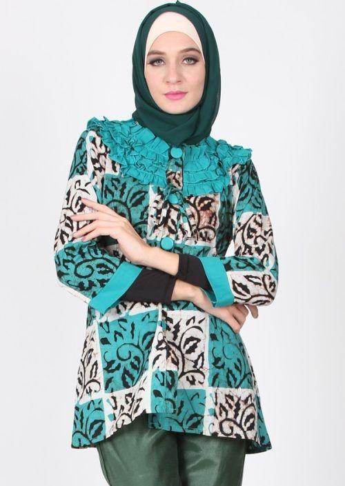 Baju Batik Muslim Wanita Desain Elegan