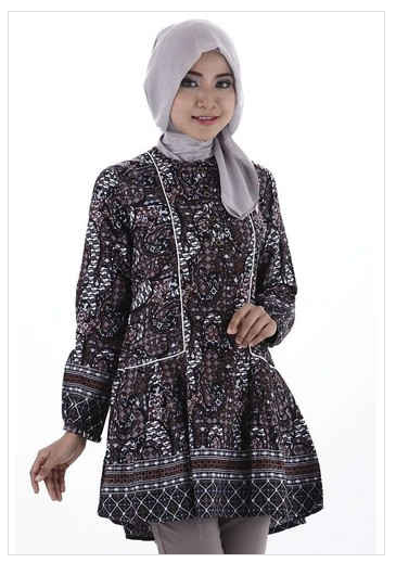 Baju Batik Muslim Wanita Kerja Terbaru