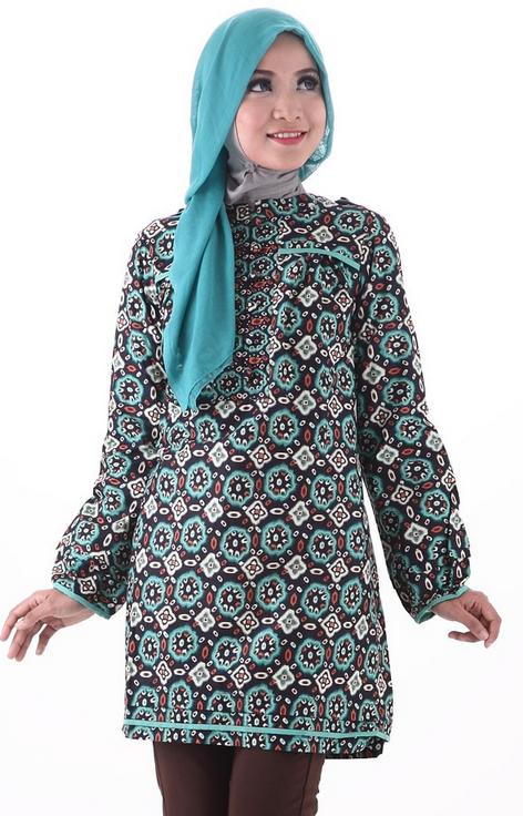 Baju Batik Muslim untuk Kerja ke Kantor