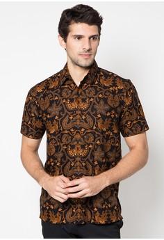 Model Baju Batik Muslim Pria Lengan Pendek