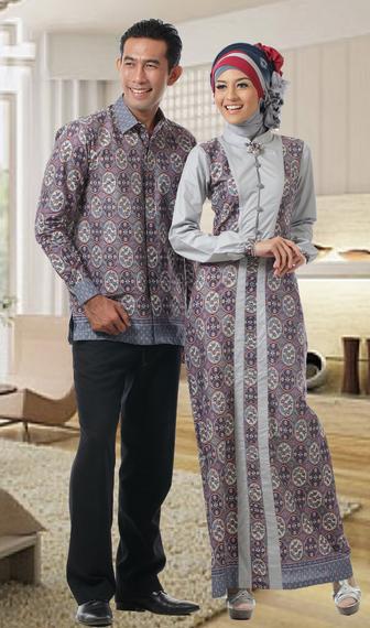 Model Baju Batik Muslim Pria dan Wanita Terbaru