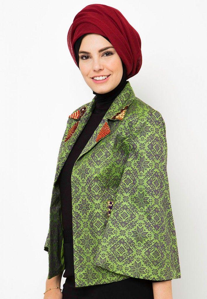 Model Baju Batik Muslim Untuk Wanita Muda Paling Kece