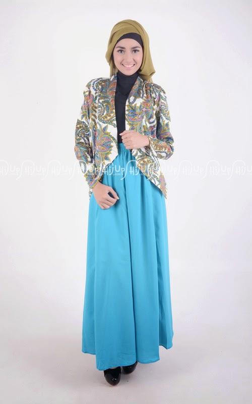 Model Baju Batik Muslim dengan Perpaduan Dress