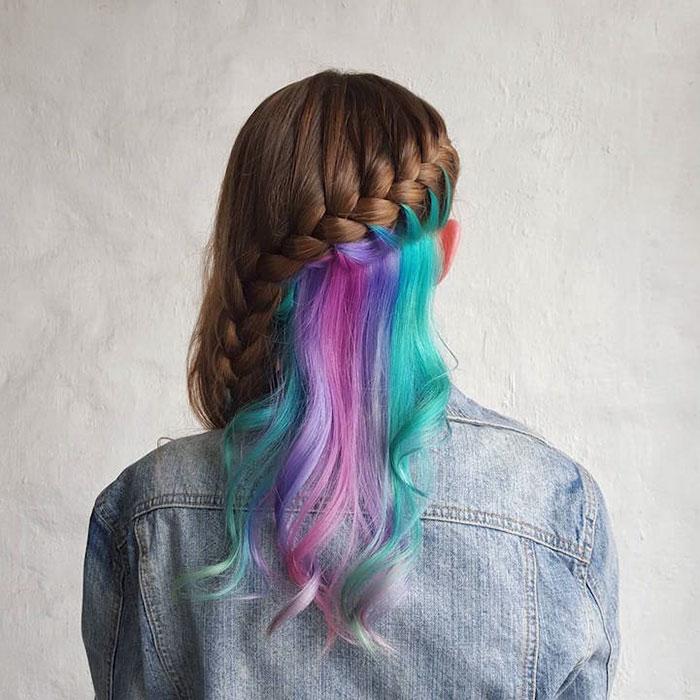 Warna Rambut Pelangi Cerah