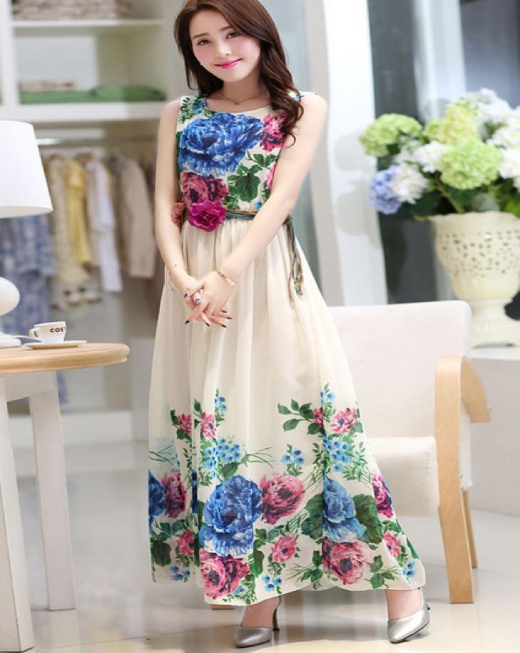 Inspirasi Model Baju Motif Bunga Cantik Ala Selebriti Korea Harian