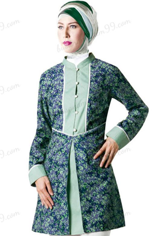 Baju Batik Muslim Wanita Kerja Agar Tampil Modis Harian Fashion