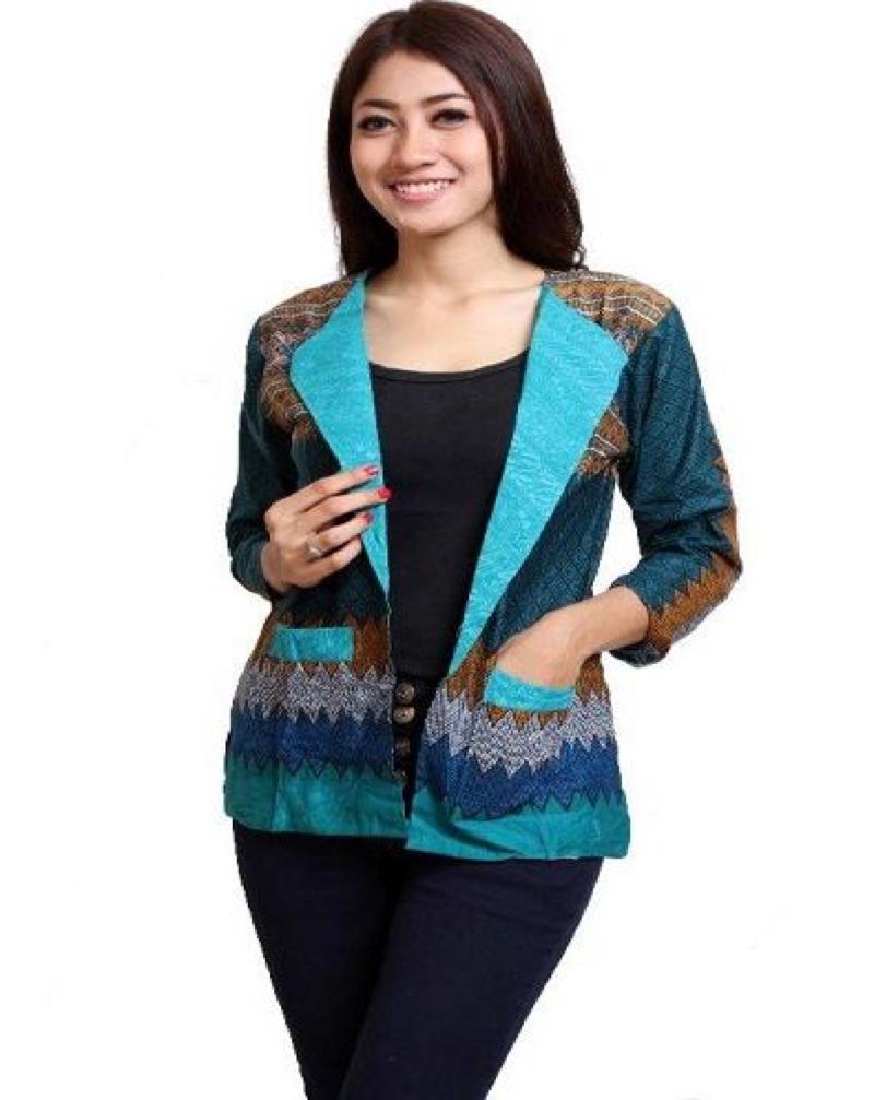 Baju Batik Kerja Lengan Panjang